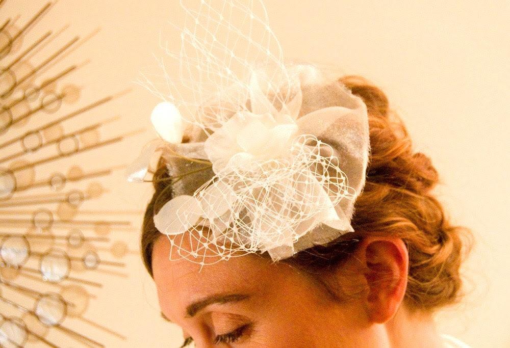 Penelope, a fascinator for the modern bride
