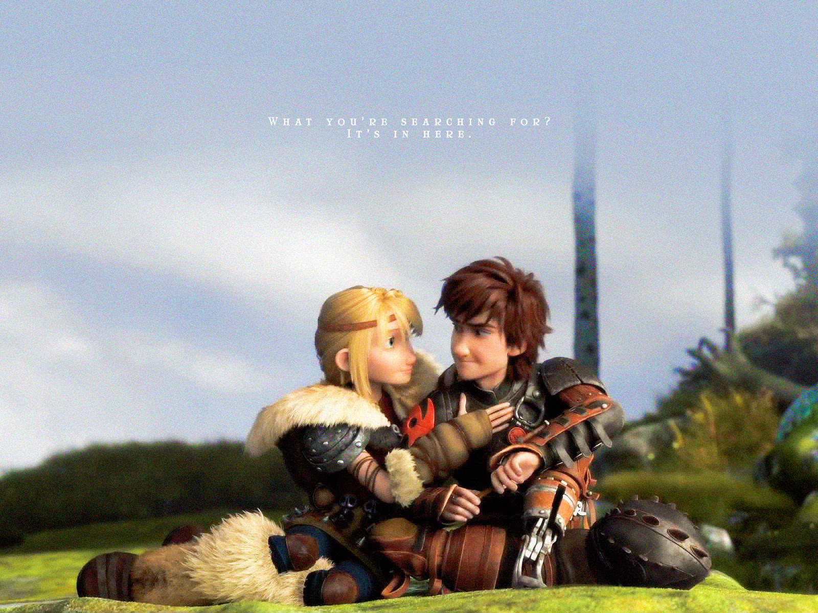 Hiccup And Astrid Wallpaper How To Train Your Dragon Wallpaper