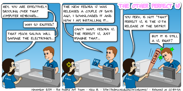 [fedora webcomic: perfect 10]