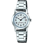 Casio Women's LTP-S100D-7BVCF Easy-to-Read Solar Stainless Steel Watch