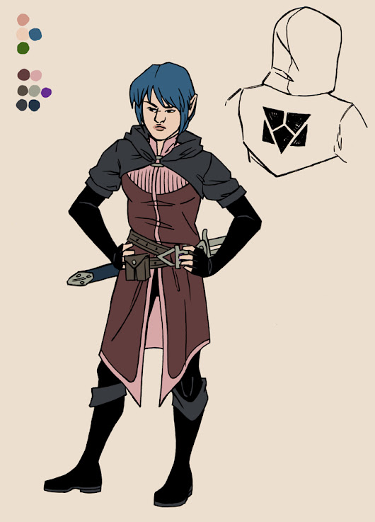 STS-70: Of Stars and Swords Character Design: Seren