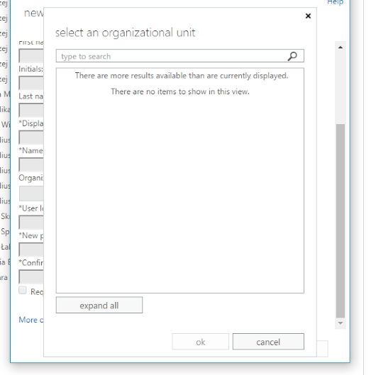 Microsoft Exchange - OU picker is empty when creating new user - Evotec