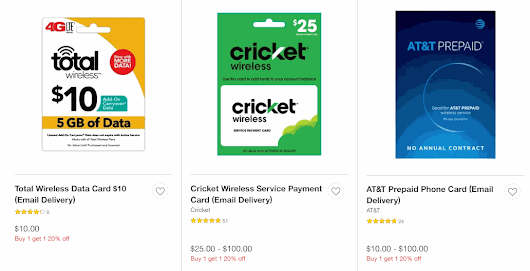 Prepaid Wireless Refill Cards Are BOGO 20% Off At Target - BestMVNO
