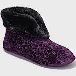 Women's Dearfoams Bootie Slippers - Purple M, Size: Medium