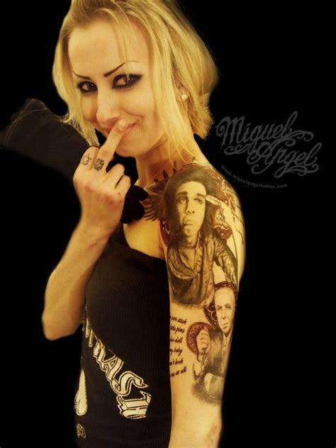nick cave  leonard cohen portrait tattoo  progress