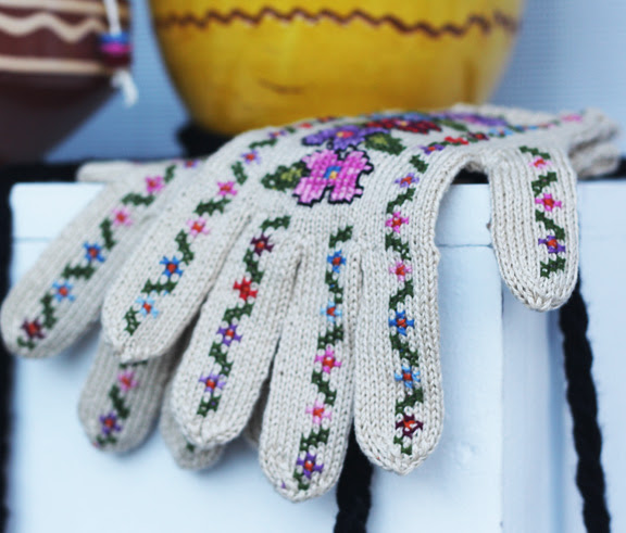 stitched gloves
