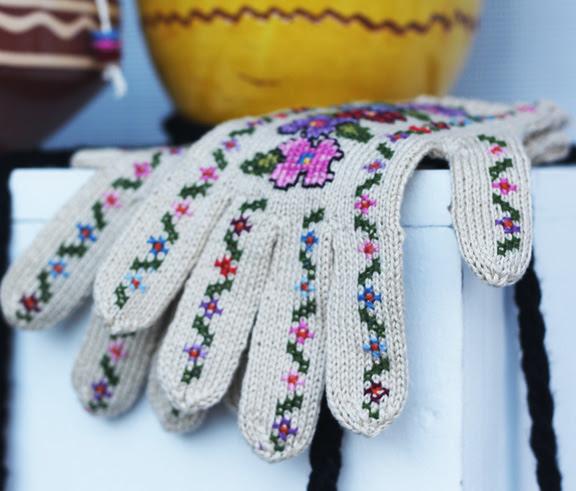 stitched gloves