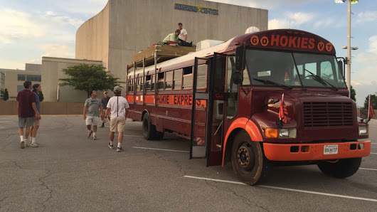 Virginia Tech graduates hit the road in converted school bus for cross-country adventure