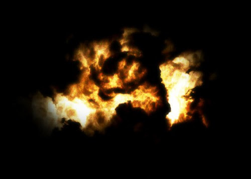 Transform a Cloud Photo into an Flaming Scene in Photoshop image 15