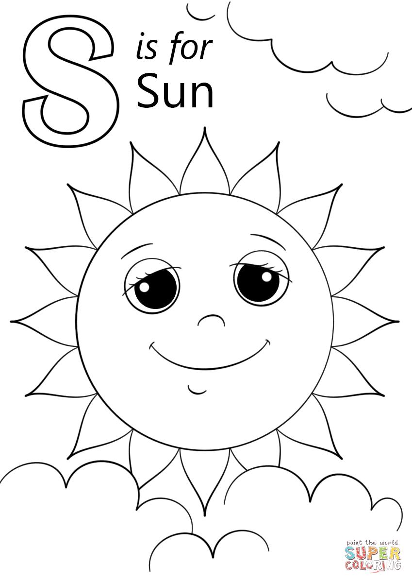 980 Coloring Pages For Sun  Images