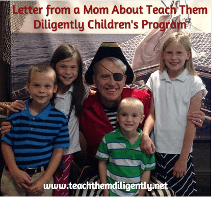 Letter From 2014 A Teach Them Diligently Children's Program Mom