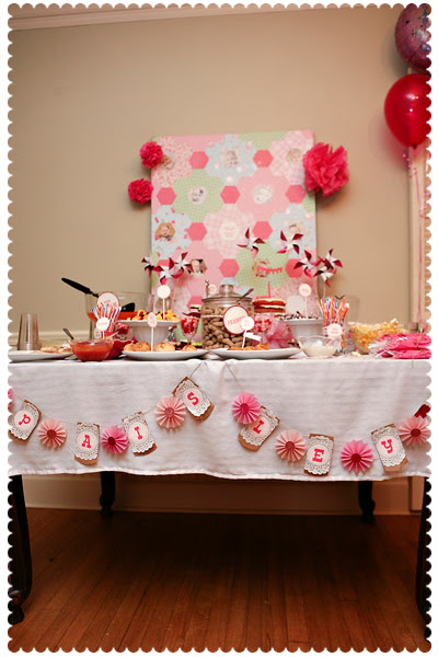 Party Table with Banner