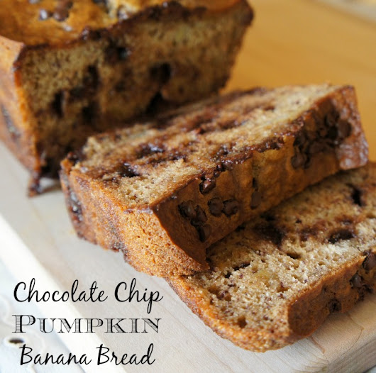 Chocolate Chip Pumpkin Banana Bread Recipe - The Rebel Chick