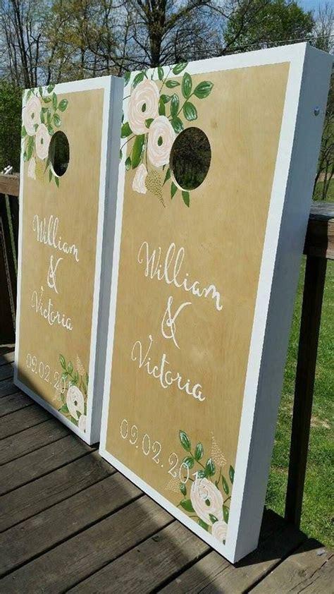 Best 25  Wedding cornhole boards ideas on Pinterest   Lawn
