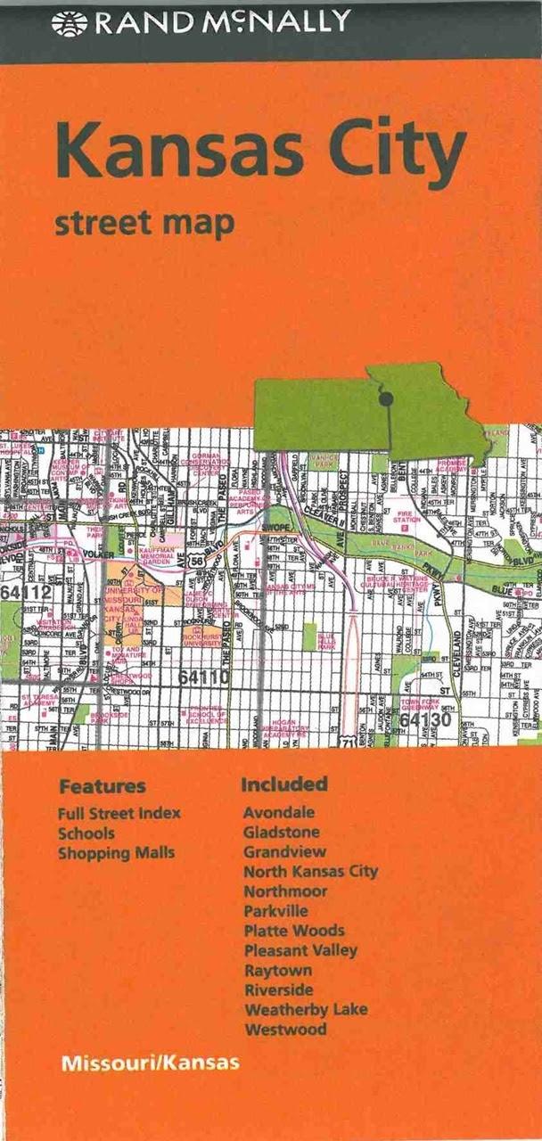 Themapstore Kansas City Missouri Kansas Street Map