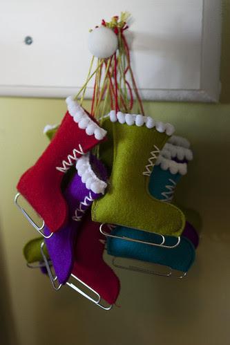 Ice Skate Ornaments for Small Fox Ornament Swap