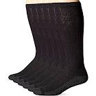 Hanes Men's ComfortBlend Over The Calf Crew Socks 6-Pack, Black