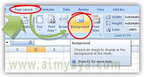 Gambar: Cara memunculkan gambar background di microsoft excel