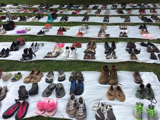 A Mile In Our Shoes: An Artistic Demonstration Against the Senate Healthcare Bill - The Arundel Patriot