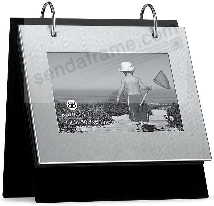 Brushed Silver Flip Itsbrtabletop Album By Burnes Picture Frames