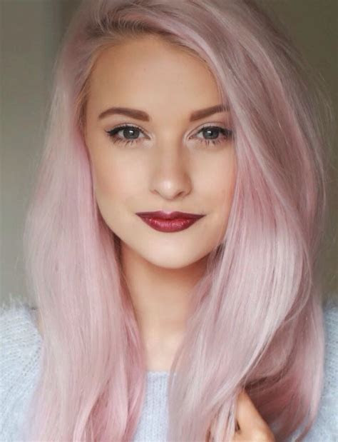 Want my hair this color pastel pink. My hair is white bleached. What color do I buy at the
