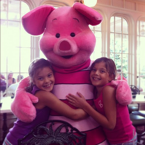 Lunch with Piglet! A big hit with the girls. #piglet #wdw