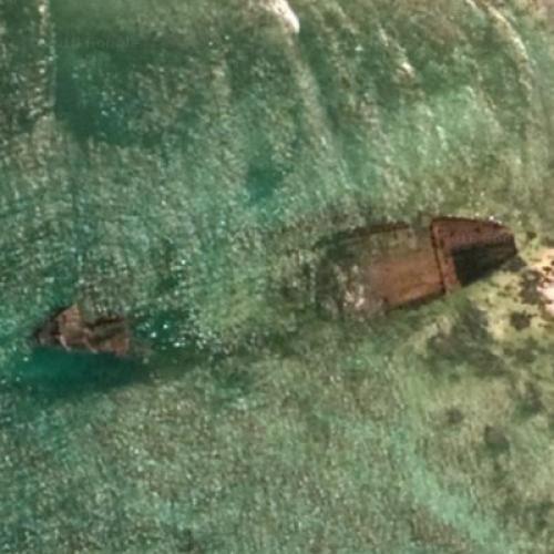 Shipwreck At North Sentinel Island Mv Primrose In North