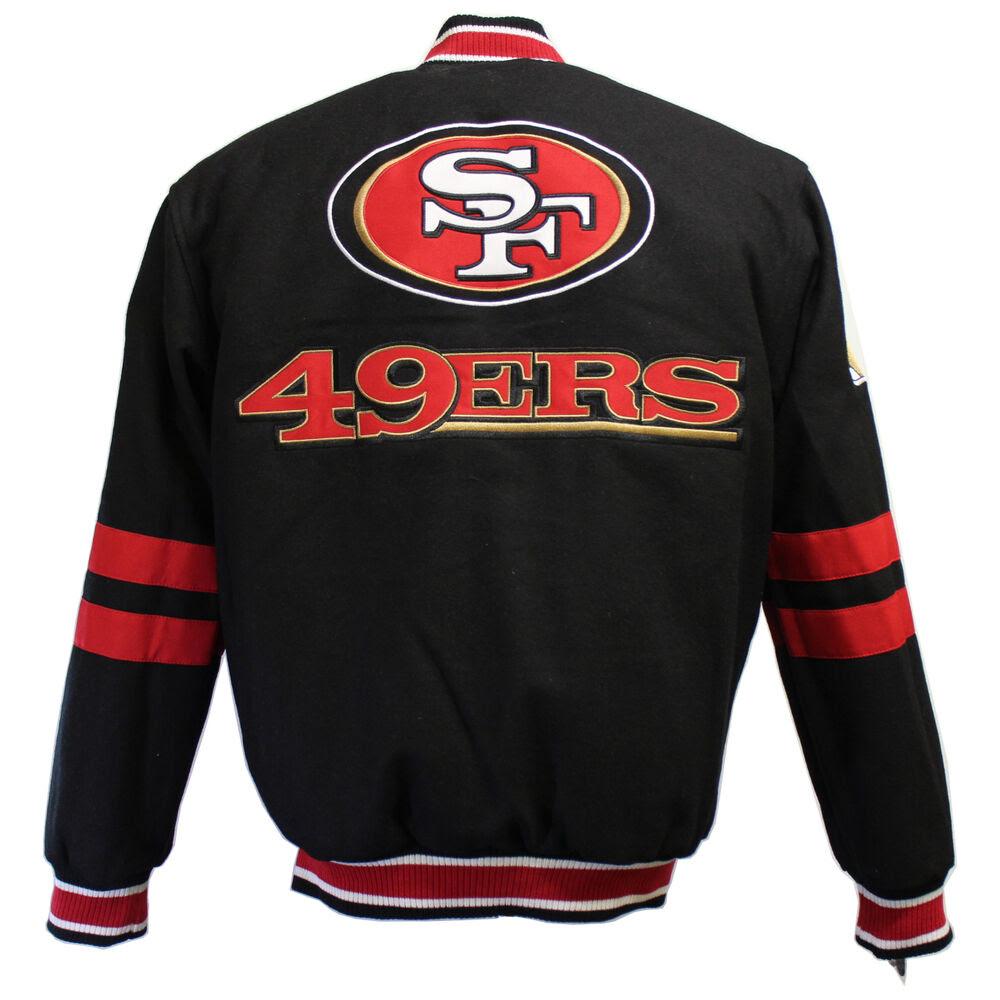 NFL Mens San Francisco 49ers Reversible Wool Jacket eBay