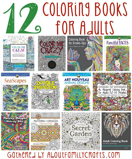 12 Coloring Books for Adults – About Family Crafts
