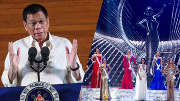 NOT A PRIORITY. Duterte says that hosting the next Miss Universe pageant in the country is not a priority. File photos by Ace Morandante/PPD, courtesy of the Miss Universe Organization