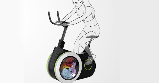 This exercise bike concept would wash your clothes as you pedal
