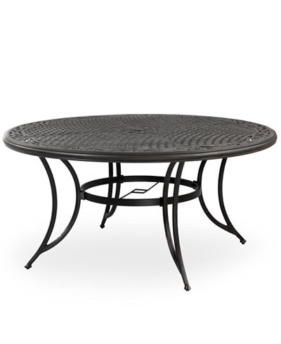 "Cast Aluminum 60"" Round Outdoor Dining Table - Furniture ..."