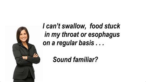 swallow food stuck   throat youtube