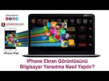 iphone ekran görüntüsünü bilgisayara yansıtmak