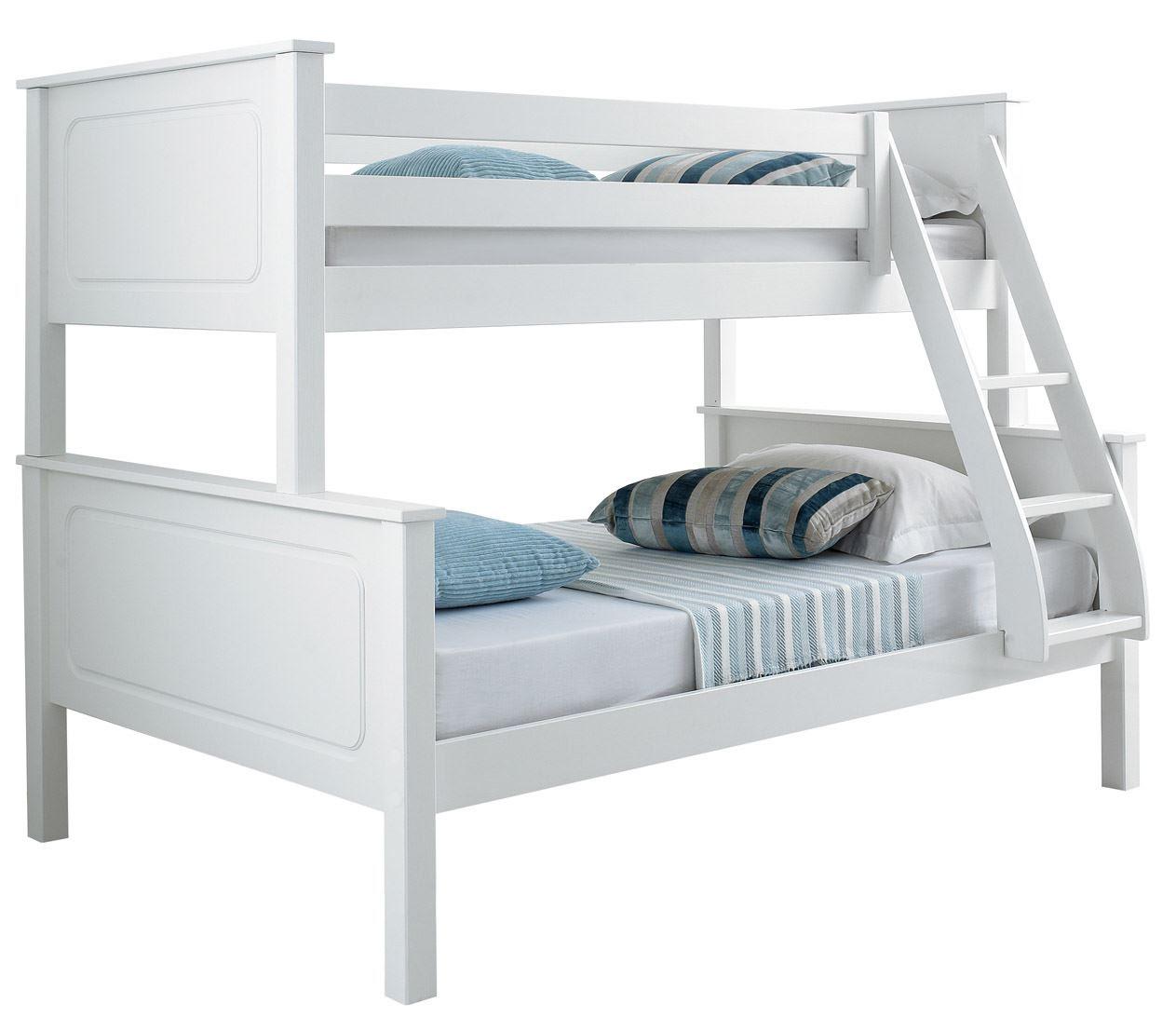 Happy Beds Vancouver 4FT Bunk Bed Triple Sleeper Solid Pine Mattresses  eBay