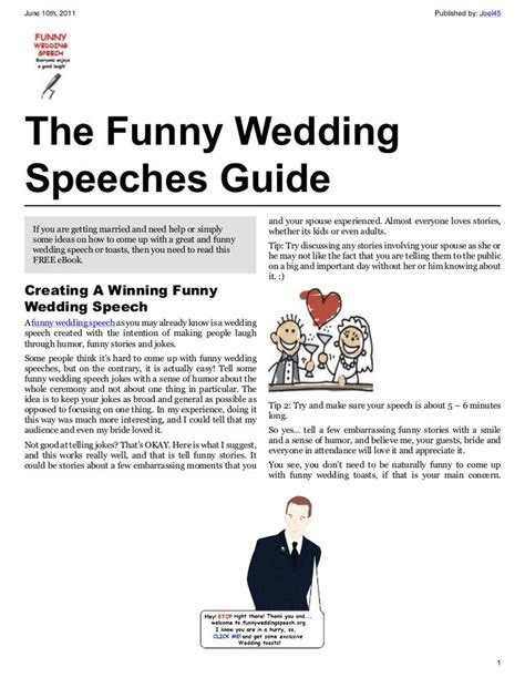 17 Best ideas about Funny Wedding Speeches on Pinterest