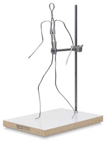 Head and bust wire armature