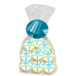 Cakesupplyshop 12Pack First Holy Communion Green/Blue Decorated Party Favor Cookies