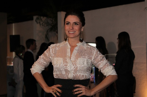 Giovanna Antonelli lança linha de esmaltes, em São Paulo (Foto: Milene Cardoso / AgNews)