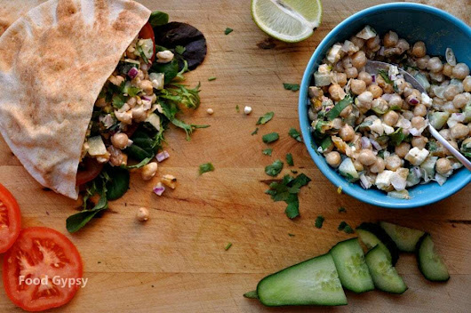 Light & Lively Moroccan Chickpea Salad - Food Gypsy