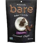 Bare Baked Crunchy Banana Chips, Simply, Gluten Free, 1.3 Ounce Bag, 6 Count
