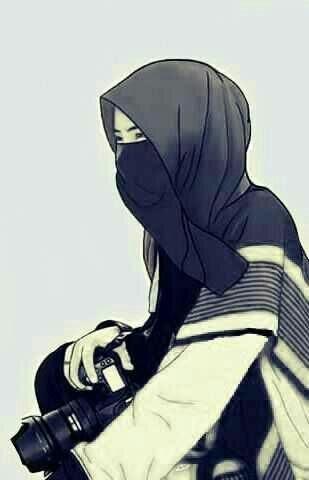 34 Gambar Kartun Muslimah Berkacamata Dan Bertopi Koleksi Kartun Hd
