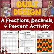 Fractions, Decimals, Percents Quilt Activity Worksheet Common Core