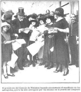 Resultado de imagen de heraldo de madrid las sufragistas españolas en el congreso