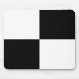 Black and White Rectangles Mousepad