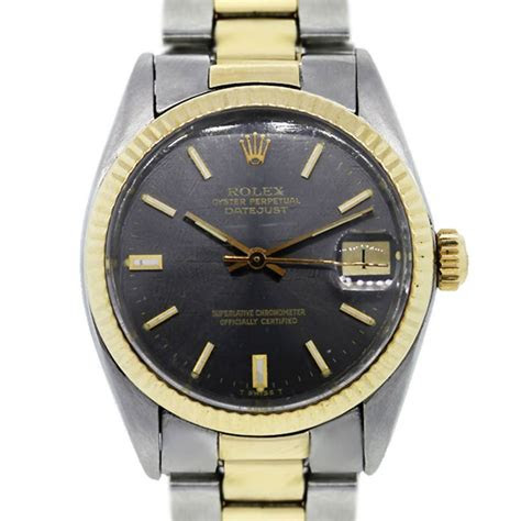rolex oyster perpetual datejust   tone mens