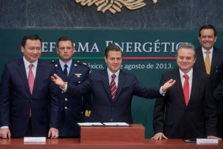 Peña durante la presentación de la reforma energética. Foto: Octavio Gómez