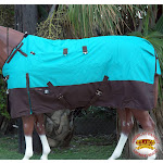 """84"""" Hilason 1200D Poly Waterproof Turnout Winter Horse Blanket Turquoise"""