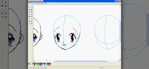 draw anime eyes  ms paint software tips