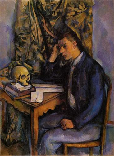 Young Man and Skull  - Paul Cezanne
